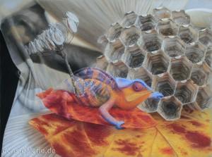Interprätation (DON) ( Pastellkreide 70x100cm 2012) Preis auf Anfrage